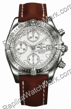 Breitling Windrider Chrono Cockpit Steel Brown Mens Watch A13358