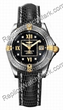 Breitling Windrider Cockpit Lady Diamond 18kt Gelbgold Steel Bla