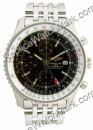 Breitling Navitimer World Steel Mens Black Watch A2432212-B7-426