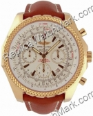 Breitling Bentley Motors 18kt Yellow Gold Mens Leather Brown K25