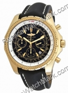 Breitling Navitimer 18kt Yellow Gold Mens Steel Black Watch D233