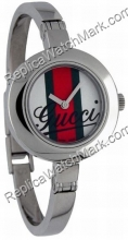 Gucci 105 Serie gestreift Dial Bangle Damenuhr Mini YA105519