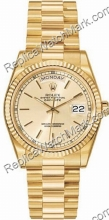 Rolex Oyster Perpetual Date 18kt Dia-Mens Watch Ouro Amarelo 118