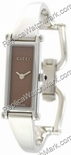 Gucci 1500 Series Ladies Bangle Steel Brown-Pink Watch YA015523