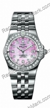 Breitling Windrider Starliner Diamond Pink Mother-of-pearl Ladie