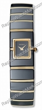 Rado Diaqueen Black Ceramic & 18K Yellow Gold Ladies Watch R2340