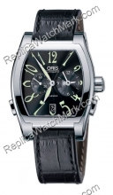 Miles Oris GMT Dual Time Mens Watch 690.7540.40.64.LS