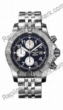 Breitling Aeromarine Super Avenger Diamond Steel Blue Mens Watch