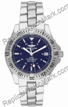 Breitling Aeromarine Colt Automatic Mens Steel Watch Blue A17350
