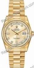 Swiss Rolex Oyster Perpetual Day-Date 18 kt jaune Mens Diamond G