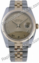 Swiss Rolex Oyster Perpetual Datejust 18kt Gold and Steel Mens W