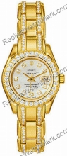 Rolex Oyster Perpetual Lady Datejust Pearlmaster jaune 18 kt, Me