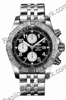 Breitling Aeromarine Super Avenger Diamond Steel Black Mens Watc