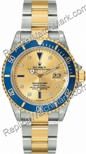 Swiss Rolex Oyster Perpetual Submariner Date Two-Tone in acciaio