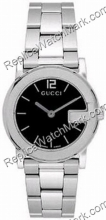 G-Gucci Watch 101G Ladies Steel Black Watch YA101505