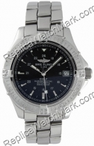 Breitling Aeromarine Colt Automatic Mens Steel Black Watch A1735
