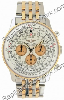 Breitling Navitimer Cosmonaute 18kt Yellow Gold Watch Mens Steel