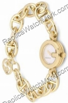 Gucci 107 Ladies Tone Gold Watch YA107512