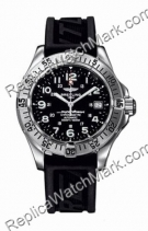 Breitling Aeromarine Superocean Mens Steel Rubber Black Watch A1