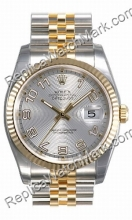 Swiss Rolex Oyster Perpetual Datejust Mens Watch 116233-SAJ