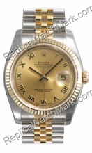 Swiss Rolex Oyster Perpetual Datejust Mens Watch 116233-CORJ