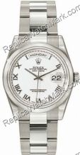 Swiss Rolex Oyster Perpetual Day-Date 18kt White Gold Mens Watch