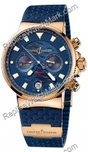 Ulysse Nardin Marine Blue Seal Chronograph Mens Watch 356-68LE-3