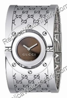 Gucci Twirl Ladies Bangle Watch Steel Wide YA112401