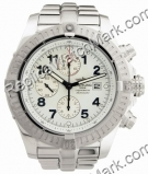 Breitling Aeromarine Super Avenger Steel White Mens Watch A13370