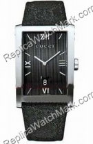 Gucci 8600 Mens Steel Series Black Watch YA086316