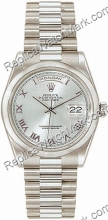 Suiza Hombres Rolex Oyster Perpetual Date Día-Watch 118206-BLR
