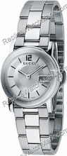 G-Gucci Watch 101G Steel Ladies Watch quadrante argentato YA1015