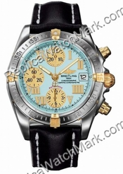 Breitling Windrider Chrono Cockpit 18kt Yellow Gold Steel Turquo