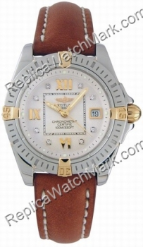 Breitling Cockpit Windrider Mesdames Lady Diamond Watch B7135612