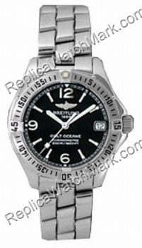 Breitling Aeromarine Colt Oceane Steel Black Ladies Watch A77350