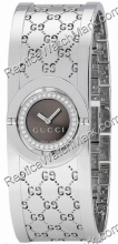 Gucci Twirl Diamond Ladies Bangle Watch Steel YA112503