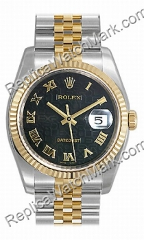 Swiss Rolex Oyster Perpetual Datejust Mens Watch 116233-BKRJ