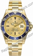 Swiss Rolex Oyster Perpetual Submariner Date 18kt Gold with Diam