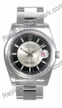 Swiss Rolex Oyster Perpetual Datejust Mens Watch 116200-BKRSO