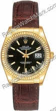 Swiss Rolex Oyster Perpetual Datejust Mens Watch 116138-BKSL