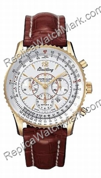 Breitling Navitimer Montbrillant 18kt Rose Gold Brown Herrenuhr
