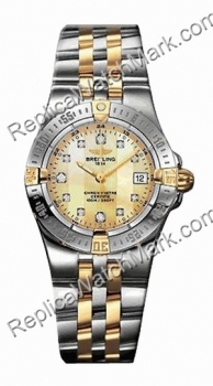 Breitling Windrider Starliner Diamond 18kt Yellow Gold Steel Yel