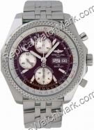 Breitling Bentley GT Chronograph Mens Borgogna Steel Watch A1336