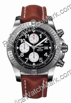 Breitling Super Avenger Aeromarine Steel Brown Herrenuhr A133701
