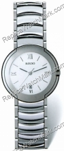 Rado Coupole Platinum-Tone Ceramic Midsize Mens Watch R22593112