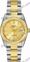 Swiss Rolex Oyster Perpetual Datejust Two-Tone 18kt Gold and Ste