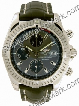 Breitling Windrider Chronomat Evolution Steel Grey Mens Watch A1