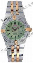 Breitling Windrider Starliner 18kt Gelbgold Steel Green Mother-o