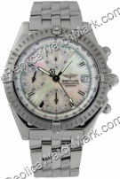 Breitling Chronomat Windrider Mens Steel Evolution Mother-of-Pea