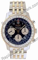 Breitling Navitimer jaune 18 kt Mens Steel Gold Black Watch D233